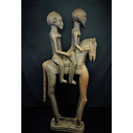 Statue africaine Couple de cavaliers Dogon