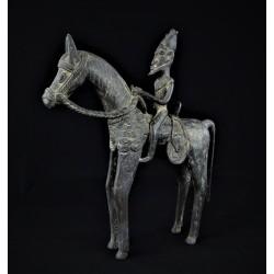 Art africain Grand bronze africain cavalier Dogon