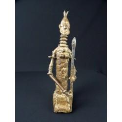 Art premier Bronze africain Guerrier Dogon androgyne