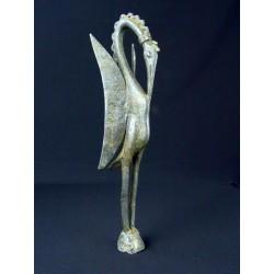 Art premier bronze africain Oiseau Dogon