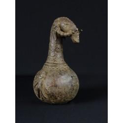 Art tribal bronze africain Vase d'autel zoomorphe Dogon