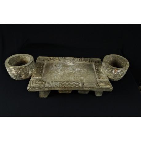 Art tribal Plateau de divination dogon