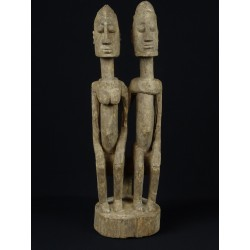 Statue africaine art Dogon Couple primordial