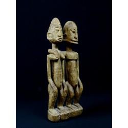 Statue africaine sculptée Couple primordial dogon