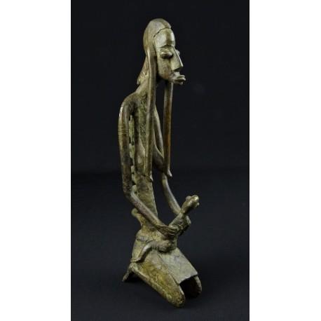 Bronze africain Dogon Mère et son enfant
