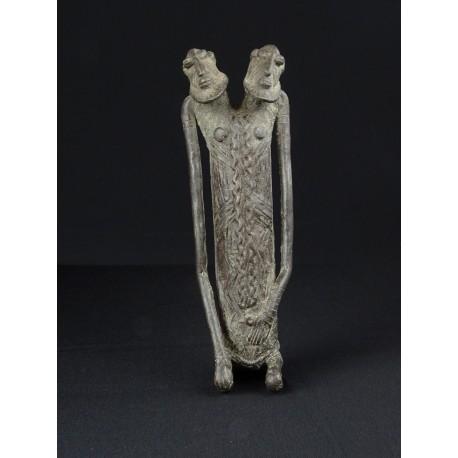 Art premier Nommo Janiforme Bronze africain Dogon