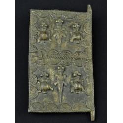 Porte dogon en bronze 15x8cm