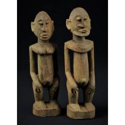 Couple de statuettes Dogon - Mali 17cm