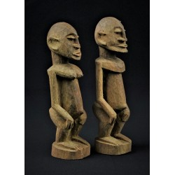 Couple de statuettes africaines Dogon