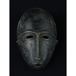 Masque africain Dogon en bronze 14x10cm