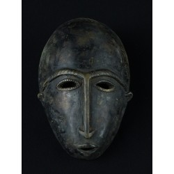 Masque africain Dogon en bronze