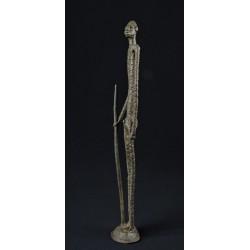 Bronze africain longiligne berger Dogon