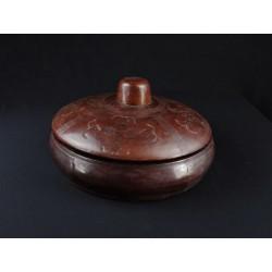 Art artisanal Boite en cuir du Mali