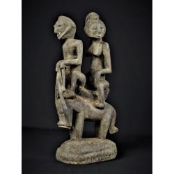 Art premier statue africaine Cavaliers et leur cheval Dogon