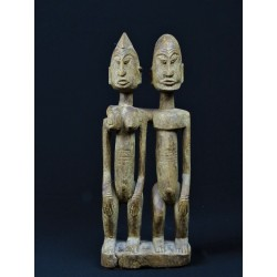 Statue africaine sculptée Couple primordial dogon