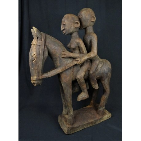 Statue africaine Couple de cavaliers Dogon