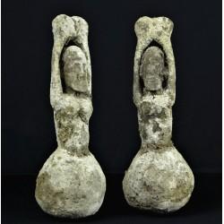 Couple de Fétiches africains Dogon