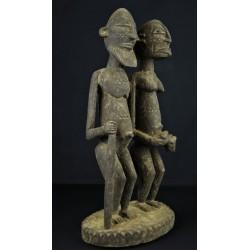 Statue africaine Couple Dogon avec enfant
