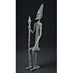 Bronze africain Guerrier Dogon